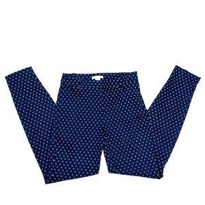 H&M geometric women's dress pants navy blue sz 2